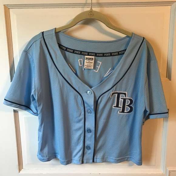 fc640a20 Victoria's Secret PINK Tampa Bay Rays Crop Jersey